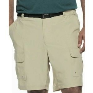 Men's Performance Belted Outdoor Cargo Shorts